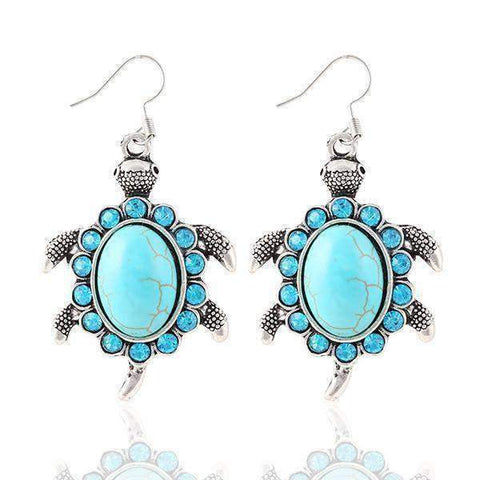 Turtle Crystal Earrings