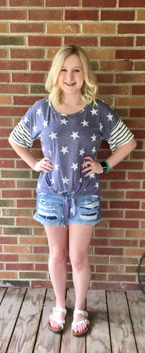 Stars shirt with stripe back