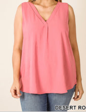 Curvy sleeveless top