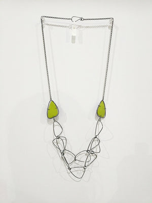 Enamel and Handmade Chain Necklace