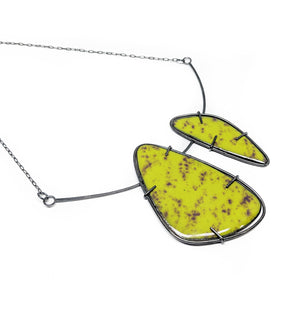 Dual Enameled Collar Necklace