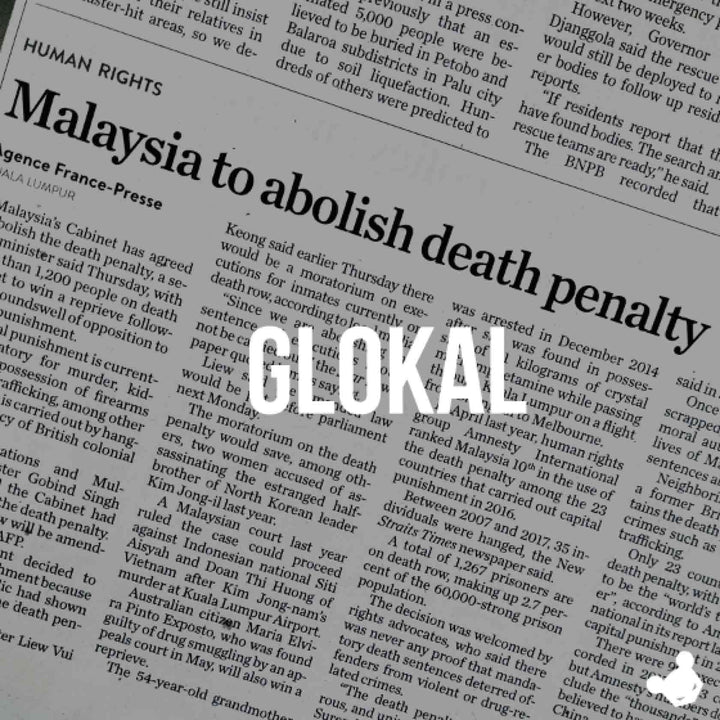 CAPITAL PUNISHMENT ABOLISHED. GLOKAL!