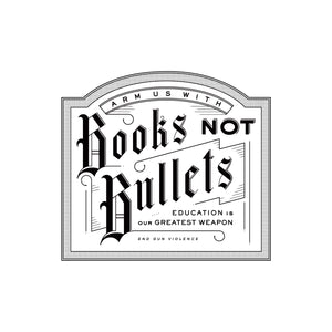White - Books Not Bullets - Short Sleeve Unisex T-shirt