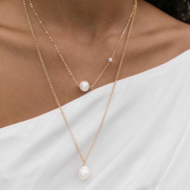 Single Pearl Rolo Necklace