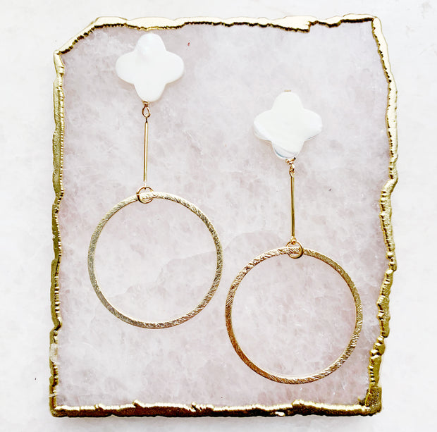 Clover and Matte Hoop Earrings