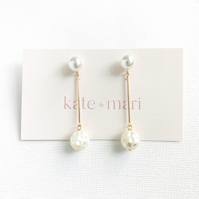 Emme Earrings with Mother of Pearl