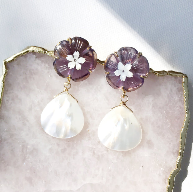 Daphne Earrings in Amethyst