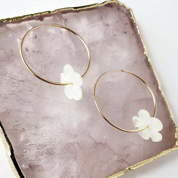 Flower Eternity Hoops