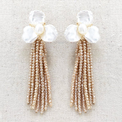 Gardenia Tassel Earrings