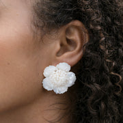 Large Pearl Cluster Flower Studs