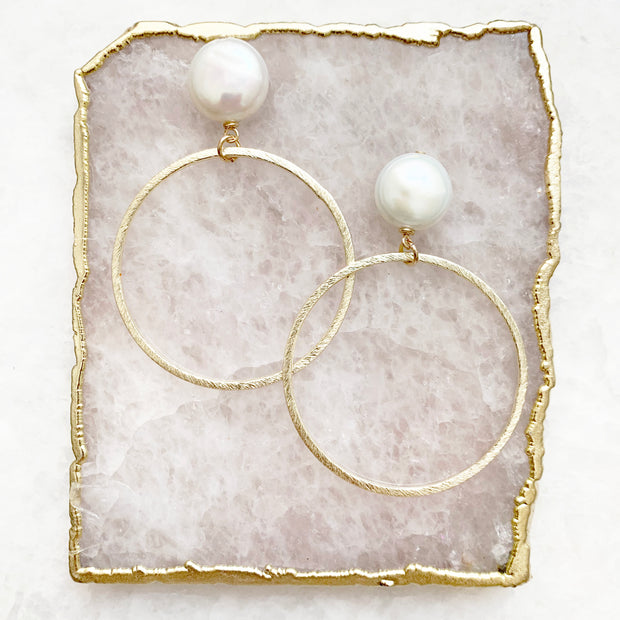 Pearl and Matte Hoops