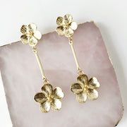 Double Flower Swing Earrings