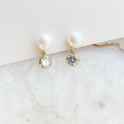 Mini Pearl and CZ Drops