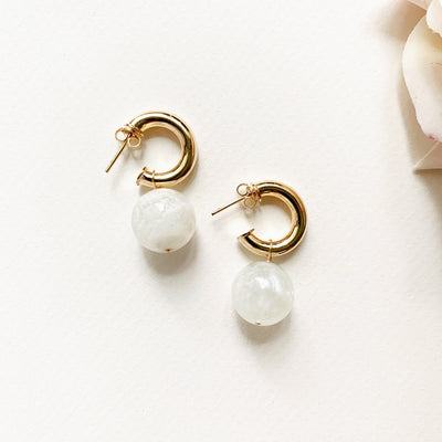 Moonstone Ball Hoops
