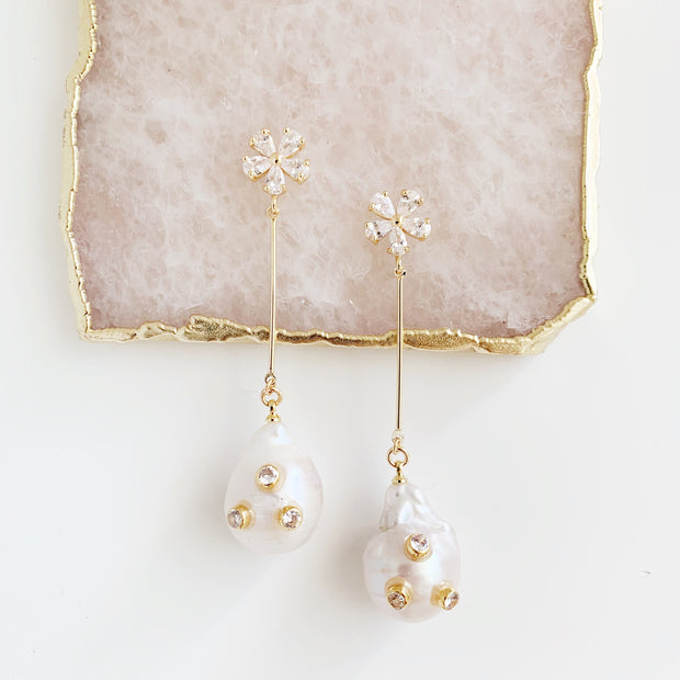 Margo Baroque Pearl Swing Earrings