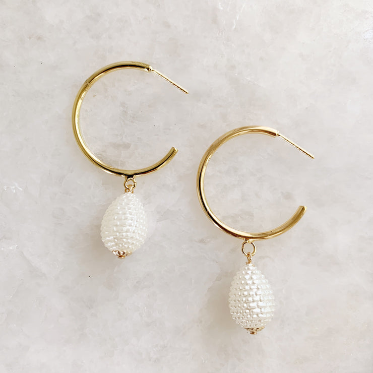Teardrop Acetate Hoops