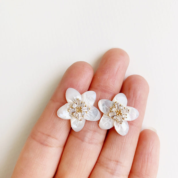 Five Point Flower Studs