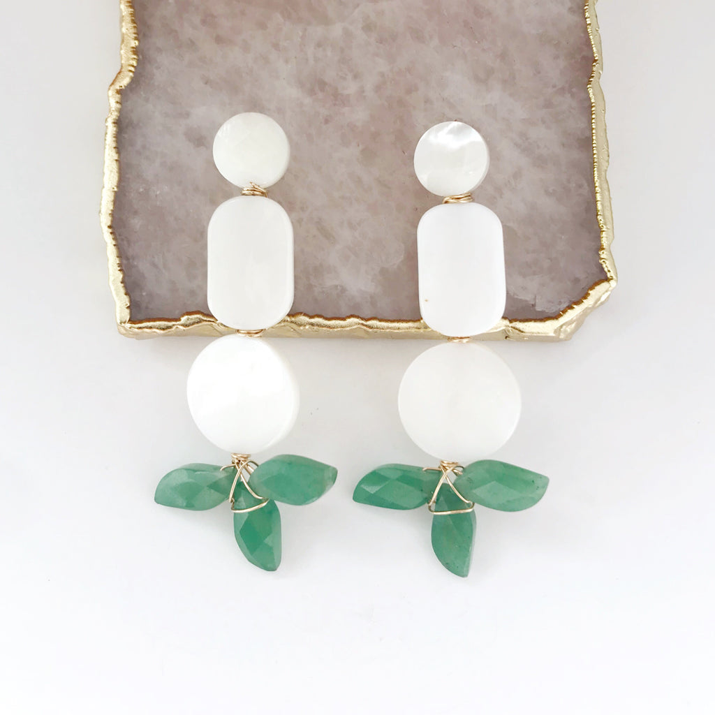 Charlotte Earrings in Jade