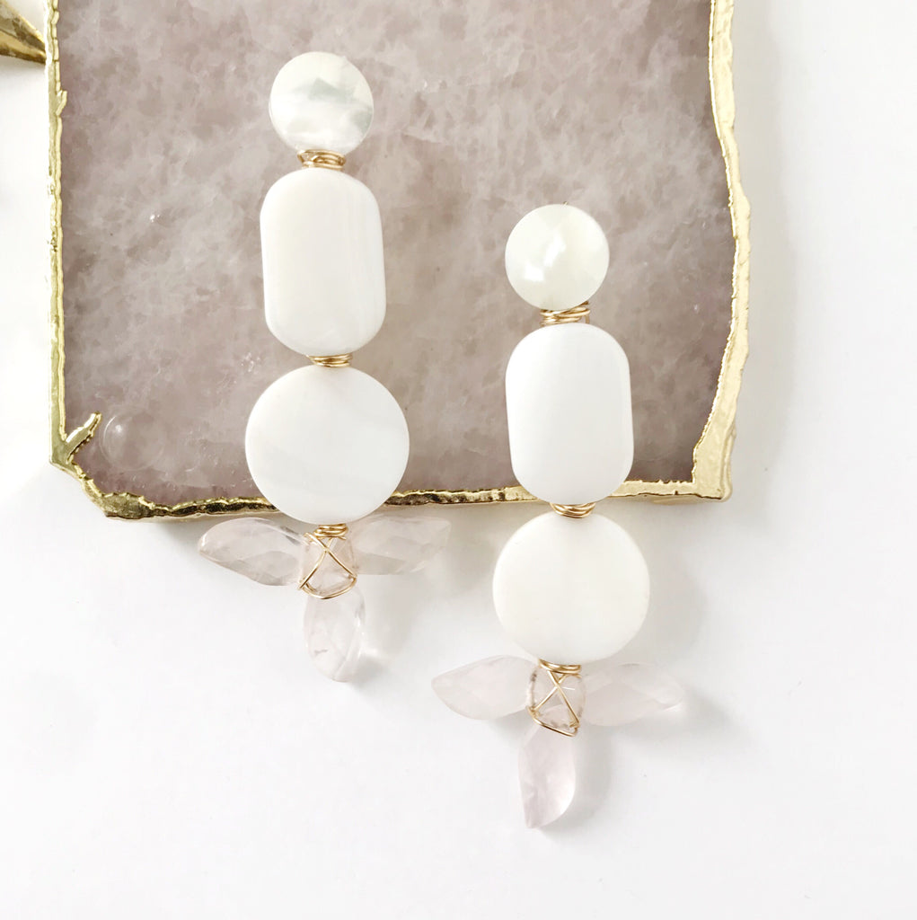 Charlotte Earrings in Pink