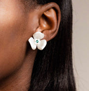 Mini Acetate 3 Petal Earrings (more colors)