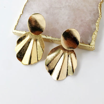 Large Fan Earrings