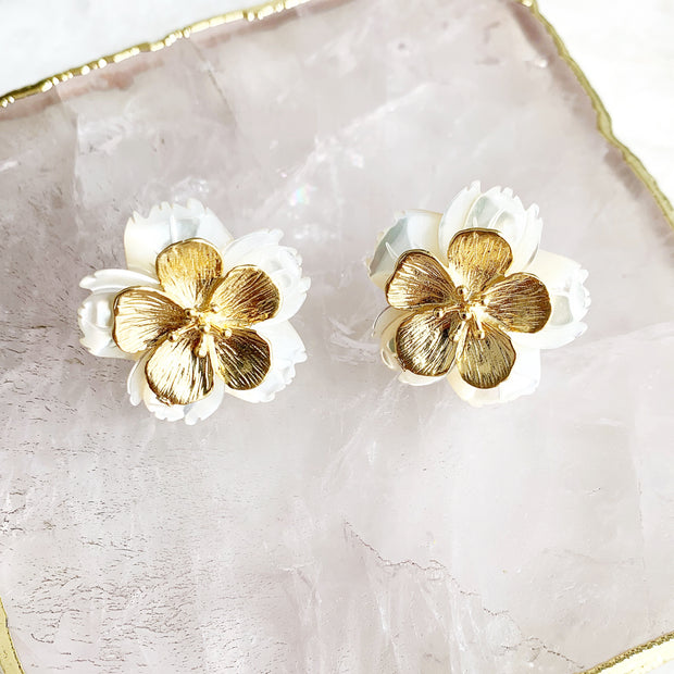 Double Flower Studs