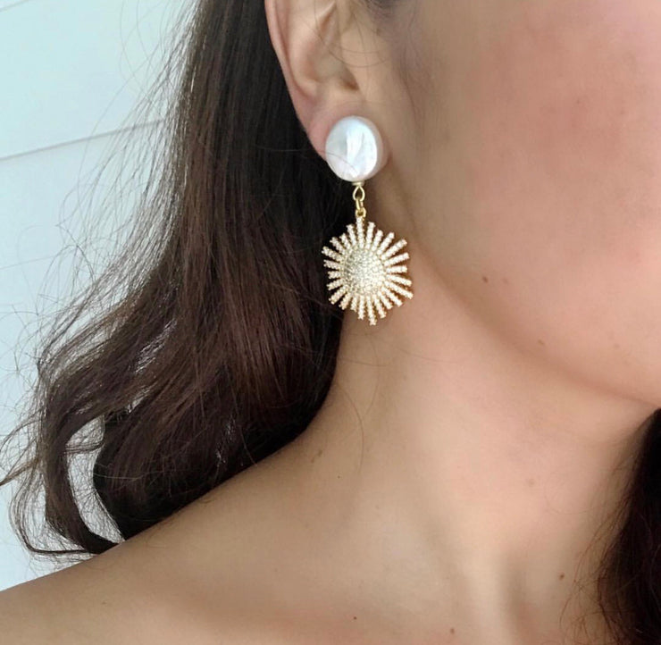 Pearl and Starburst Earrings