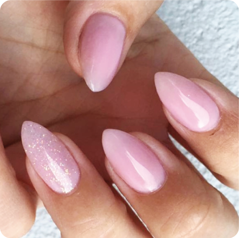 Acrylic or Gel Overlay over Natural Nails