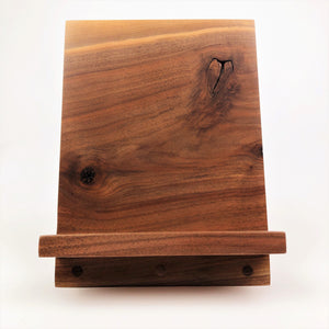 Walnut iPad/Cookbook Stand