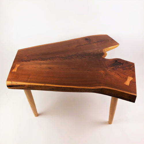 Walnut Coffee Table With Ash Legs And Cherry Butterfly Keys