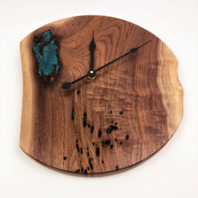 Live Edge Walnut and Epoxy Resin Clock