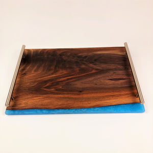 Walnut and Epoxy Resin Serving Tray