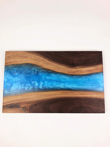 Large Walnut Epoxy Resin River Cutting Board