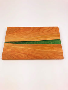 Cherry Epoxy Resin River Cutting Board