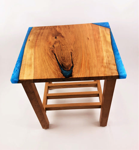 Cherry Epoxy Resin End Table