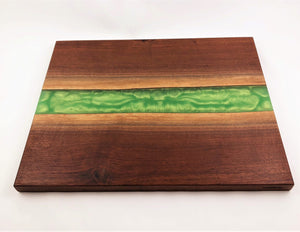 Gigantic Custom Walnut Epoxy resin river cutting board