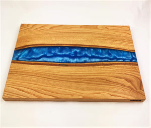 XL Chinese Chestnut Epoxy Resin Cutting Board