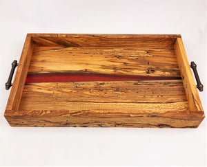 Spalted Maple Epoxy Resin River Serving Tray