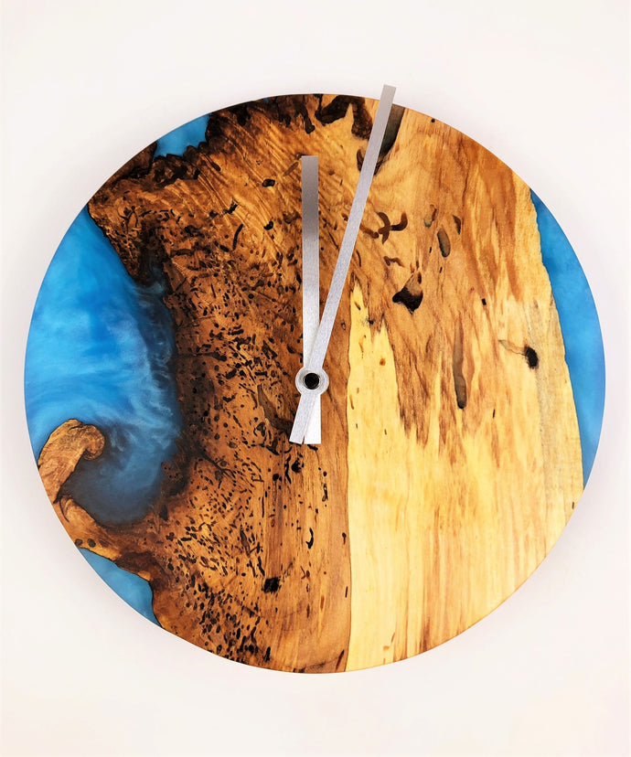 Spalted Maple Epoxy Resin Clock