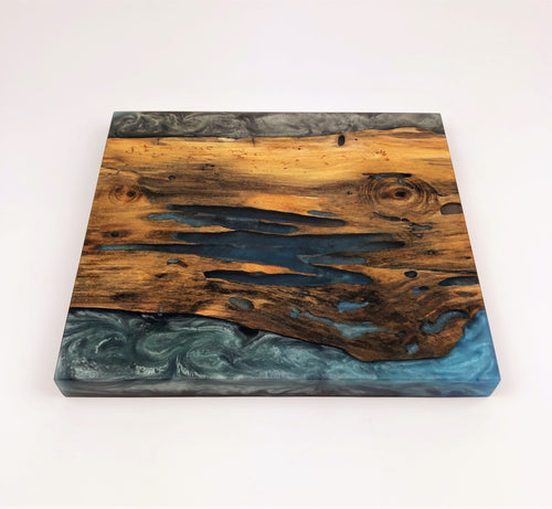 Decayed Maple Epoxy Resin Serving Board