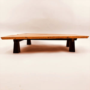 Live Edge White Oak Display Table With Walnut Legs and Butterfly Key