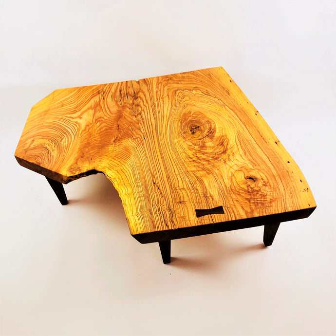 Ash Coffee Table with Walnut Legs and Butterfly Key
