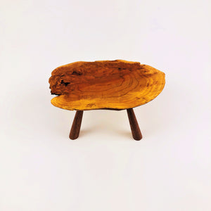 Live Edge Cherry Burl Table with Walnut Legs