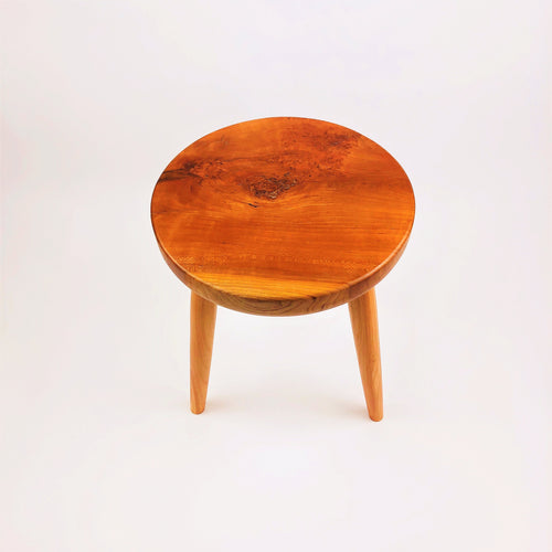 Cherry Stool with Beech Legs