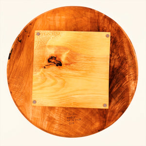 Maple Lazy Susan With White Pine Base