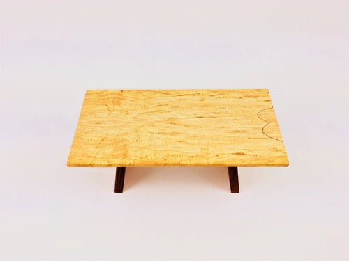 Maple Table With Walnut Legs