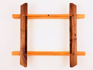 Walnut and Cherry Picture Frame With Shelf