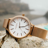 ca laguna 34 rose gold mesh white