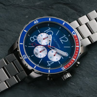 ca mavericks chrono blue red