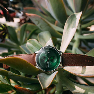 California Watch Co. Golden Gate Chrono Leather Dark Brown Green